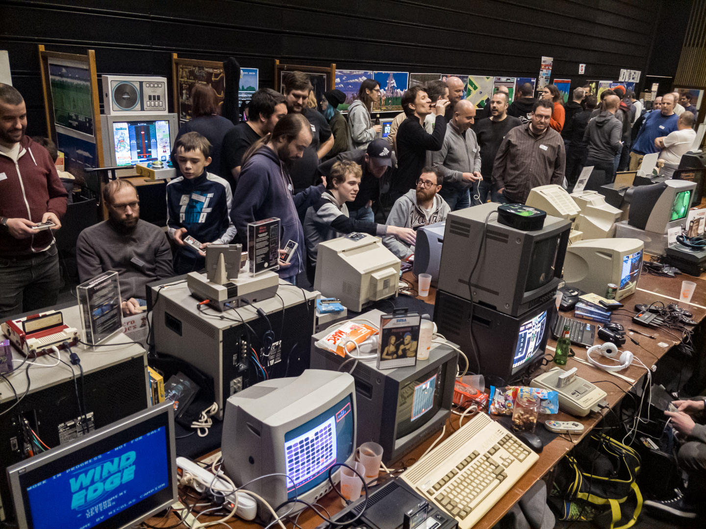 People presented their beloved machines or games